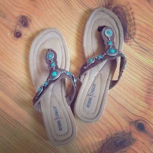 Minnetonka southwestern leather sandals sz 8